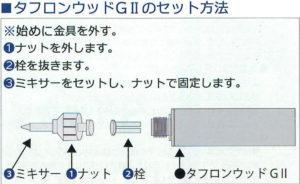 タフロンG2セット方法